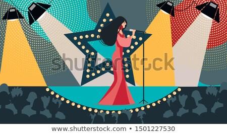 Lumière micro concert divertissement talent Photo stock © stuartmiles