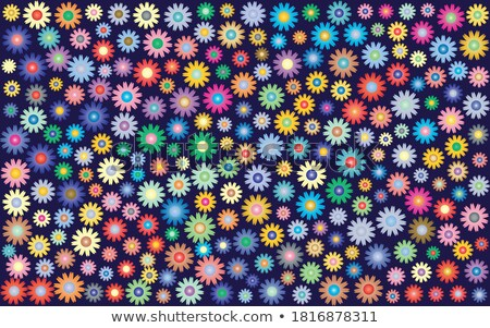 Stylish swirl flower multicolor colorful greeting card vector de Stock photo © bharat