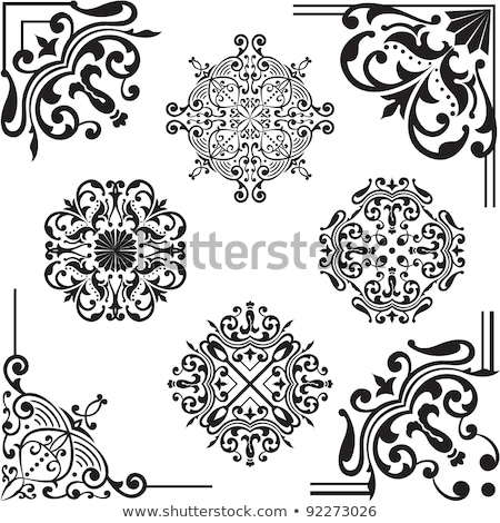 Ornament design elements on parchment Stock photo © adrian_n