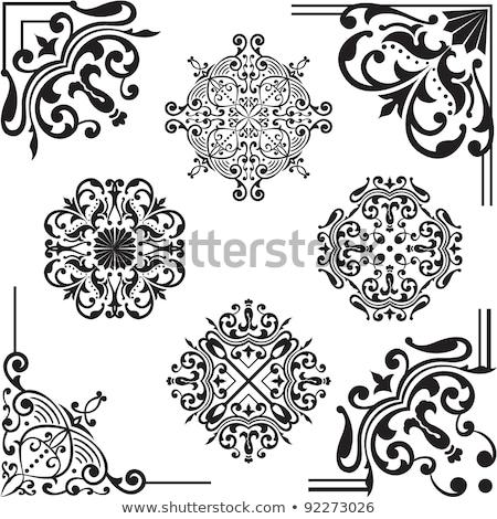 ornament design elements on parchment stock photo © adrian_n
