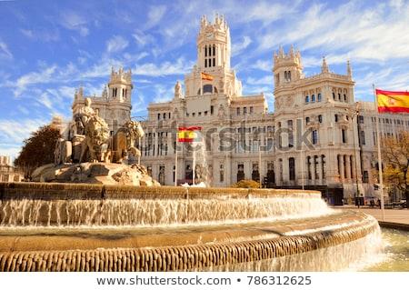 Madri · rua · principal · casa · sol · ônibus · arquitetura - foto stock © sailorr