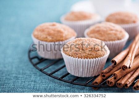 Stock fotó: Muffinok · fahéj · otthon · háttér · konyha · reggeli