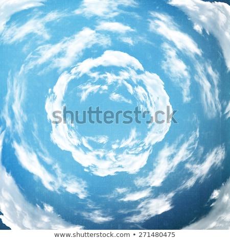 daire · gökyüzü · uçak · çekmek · arka · plan · mavi - stok fotoğraf © LIstvan