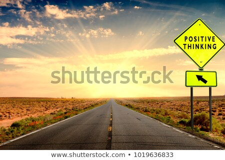 sign on road. focus on sign Stock photo © mycola