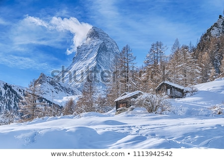 деревне · пейзаж · Мир · снега · горные - Сток-фото © ewastudio