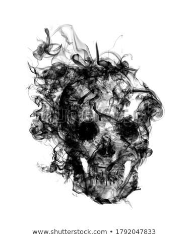 Kafatası örnek duman vektör dizayn ölüm Stok fotoğraf © fmuqodas