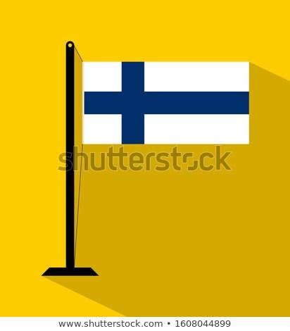 Finlandia mały banderą Pokaż republika selektywne focus Zdjęcia stock © tashatuvango
