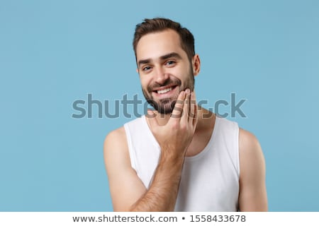 close up of bearded young man Stock photo © feedough