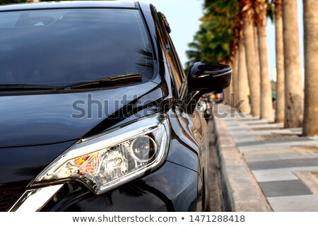 Modern sport car and beautiful old city view as a background Stock photo © Nejron
