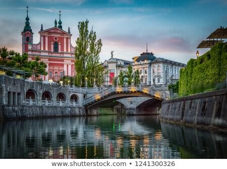 medieval · casas · Eslovenia · Europa · edad · ciudad - foto stock © kasto