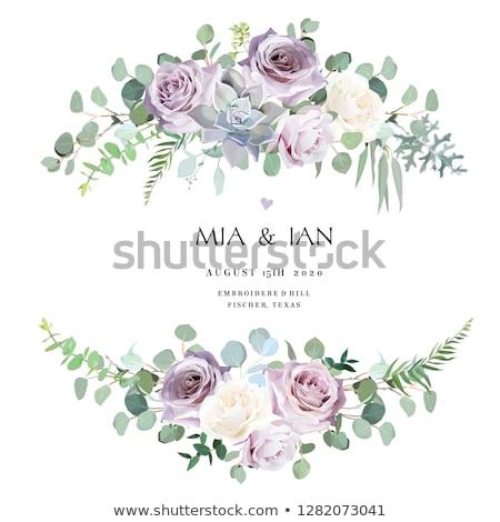 művészet · gyönyörű · húsvét · tavaszi · virágok · izolált · fehér - stock fotó © neirfy