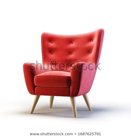 Vermelho cadeira 3D gerado quadro Foto stock © flipfine