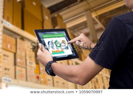 data management in boxes Stock photo © marinini