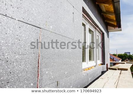 construction site styrofoam insulation stock photo © simazoran