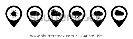 Weather forecast map with flat pointers and icons Stock photo © orson