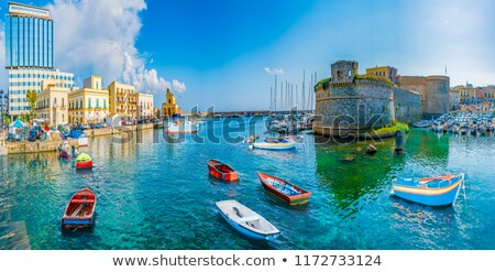 Town of Gallipoli on southern coast of Italy Stock photo © tommyandone