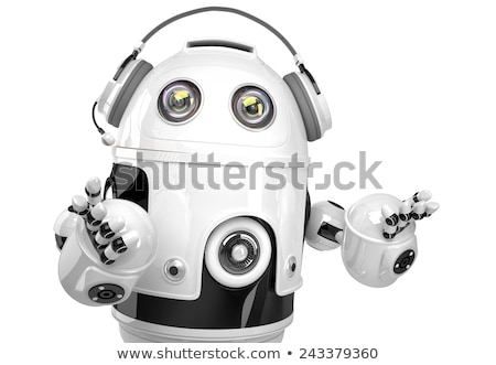 robot call center operator isolated contains clipping path stock photo © kirill_m