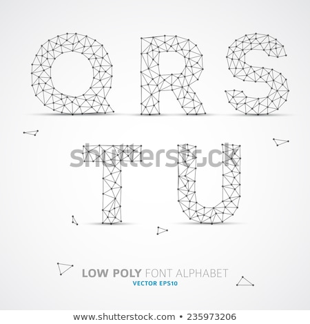 Vektor alacsony ábécé betűtípus drót árnyék Stock fotó © orson