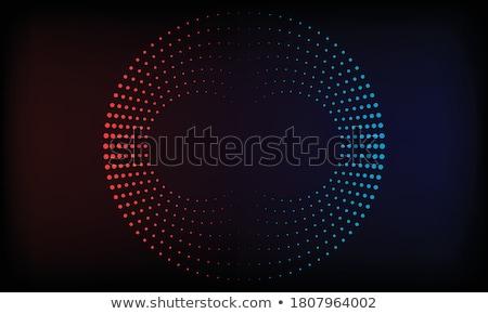 Luminoso bagliore rosso web cerchio elemento Foto d'archivio © saicle