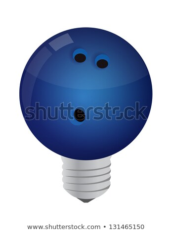 Lightbulb Bowling ball  Stock photo © alexmillos