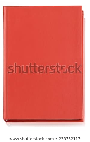 Bruin gesloten boek Rood bladwijzer illustratie Stockfoto © orensila