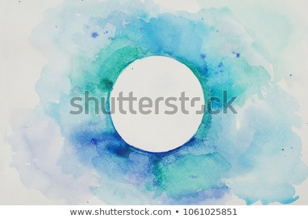 set of blue acrylic round stains stock photo © gladiolus