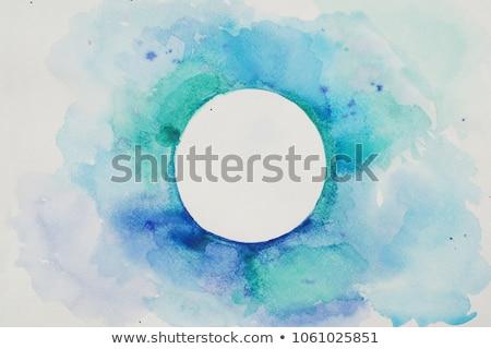 セット 青 アクリル 紙 手 ストックフォト © gladiolus