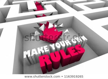 Reglas motivacional recordatorio nota corcho Foto stock © stevanovicigor