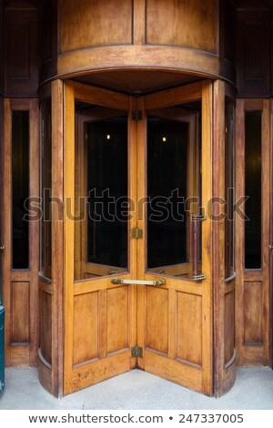 古い リボルバー 白 木材 金 ストックフォト © ozaiachin
