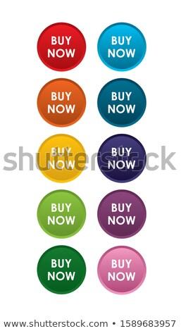 Kopen vector paars web icon knop Stockfoto © rizwanali3d