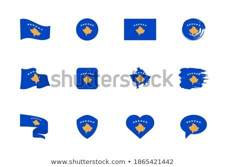 Mapa bandeira botão Kosovo vetor imagem Foto stock © Istanbul2009