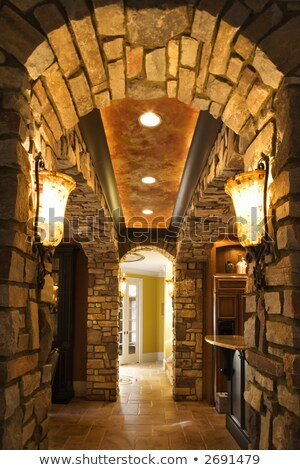 Stone Archway in Affluent Home Stock photo © iofoto