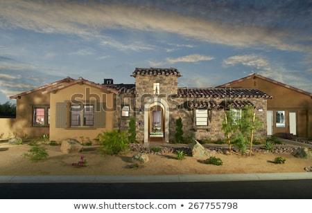 home · buitenkant · huis · ontwerp · droogte · landscaping - stockfoto © cr8tivguy