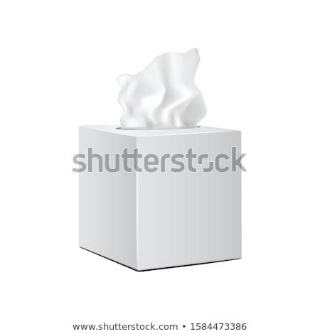 Fehér papírzsebkendő doboz izolált háttér fürdőszoba Stock fotó © konturvid