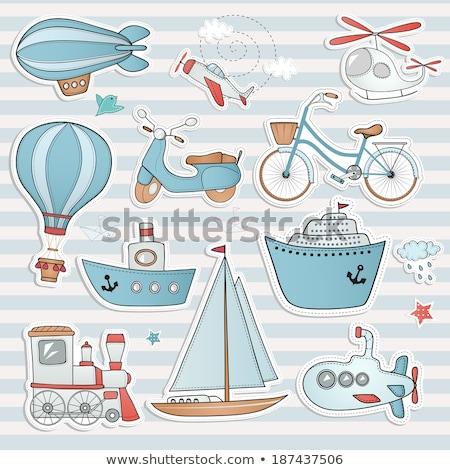 színes · turista · ikon · gyűjtemény · üzlet · nő · étel - stock fotó © feabornset