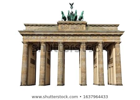 Brandenburgi kapu Berlin Németország napfelkelte fal építészet Stock fotó © AndreyKr