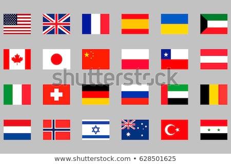 Egyesült Királyság Szíria zászlók vektor kép puzzle Stock fotó © Istanbul2009
