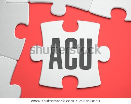 Puzzle miejsce brakujący sztuk średnia tekst Zdjęcia stock © tashatuvango