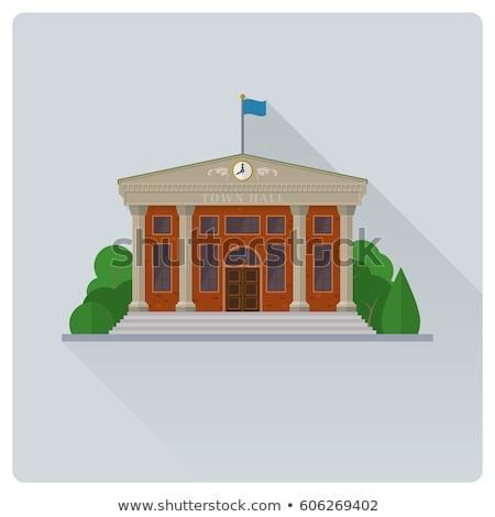 facade of town hall stock photo © imagedb
