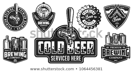 cerveza · cervecería · salto · botella · trigo · oído - foto stock © netkov1