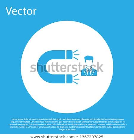Magnet blue Vector Icon Design Stock photo © rizwanali3d