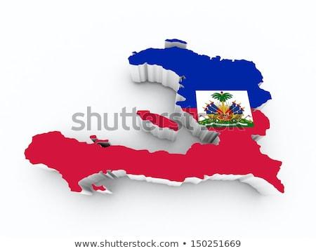Regno Unito Haiti bandiere puzzle isolato bianco Foto d'archivio © Istanbul2009