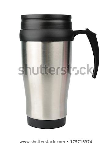 Chaleur tasse de café isolé blanche tasse acier Photo stock © ozaiachin