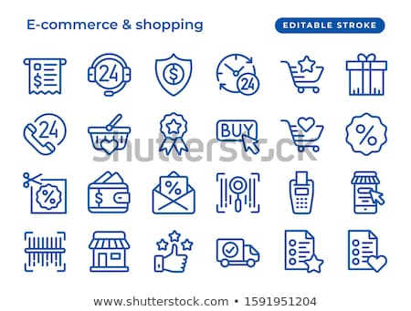 Free Coupon Blue Vector Icon Design Stock photo © rizwanali3d