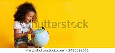 молодые ребенка мира модный мальчика путешественник Сток-фото © oleanderstudio