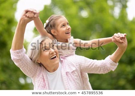 nagymama · unoka · család · gyerekek · nők · gyerekek - stock fotó © Paha_L