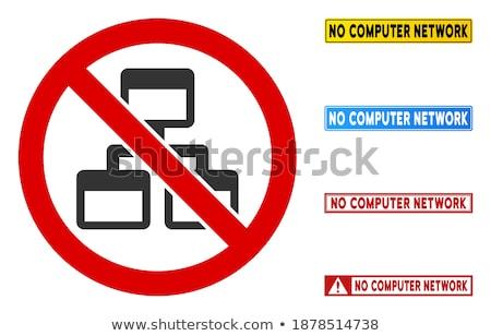 Pc ağ kırmızı vektör ikon dizayn Stok fotoğraf © rizwanali3d