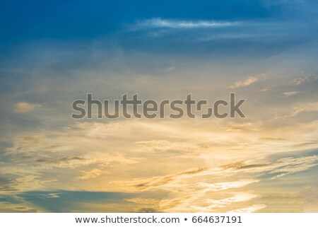 beautiful sunset sky over a warm tropical sea stock photo © pzaxe