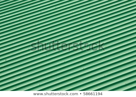 Stock photo: diagonal strip green roof top pattern background