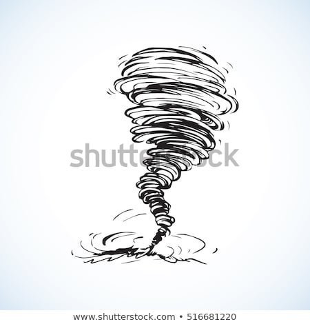 Vector hand-drawn illustrations. Cyclone tornado Stock photo © m_pavlov
